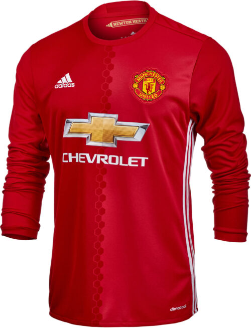 adidas Manchester United L/S Home Jersey 2016-17