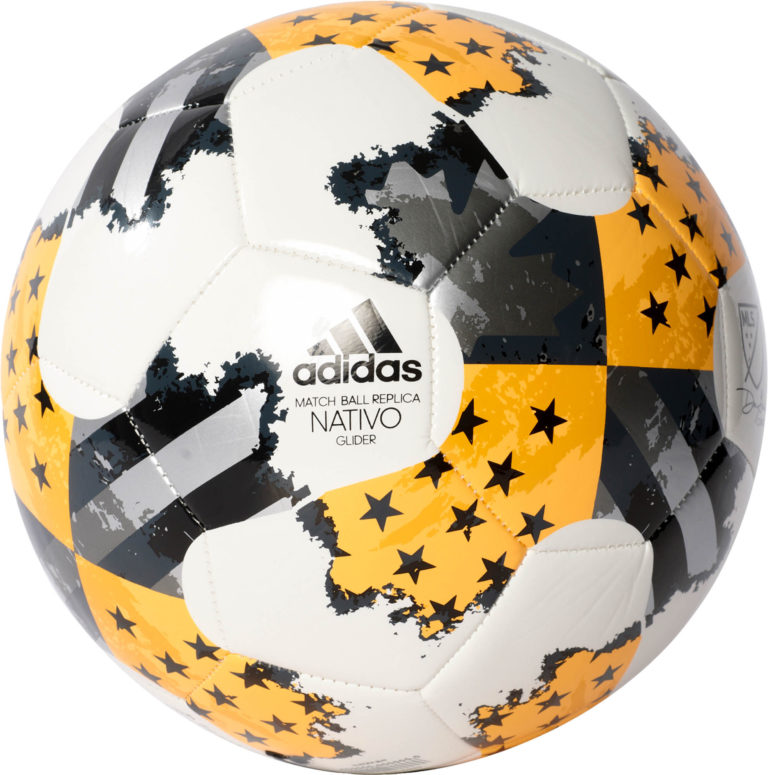 adidas 17 MLS Glider Soccer Ball – White/Solar Gold