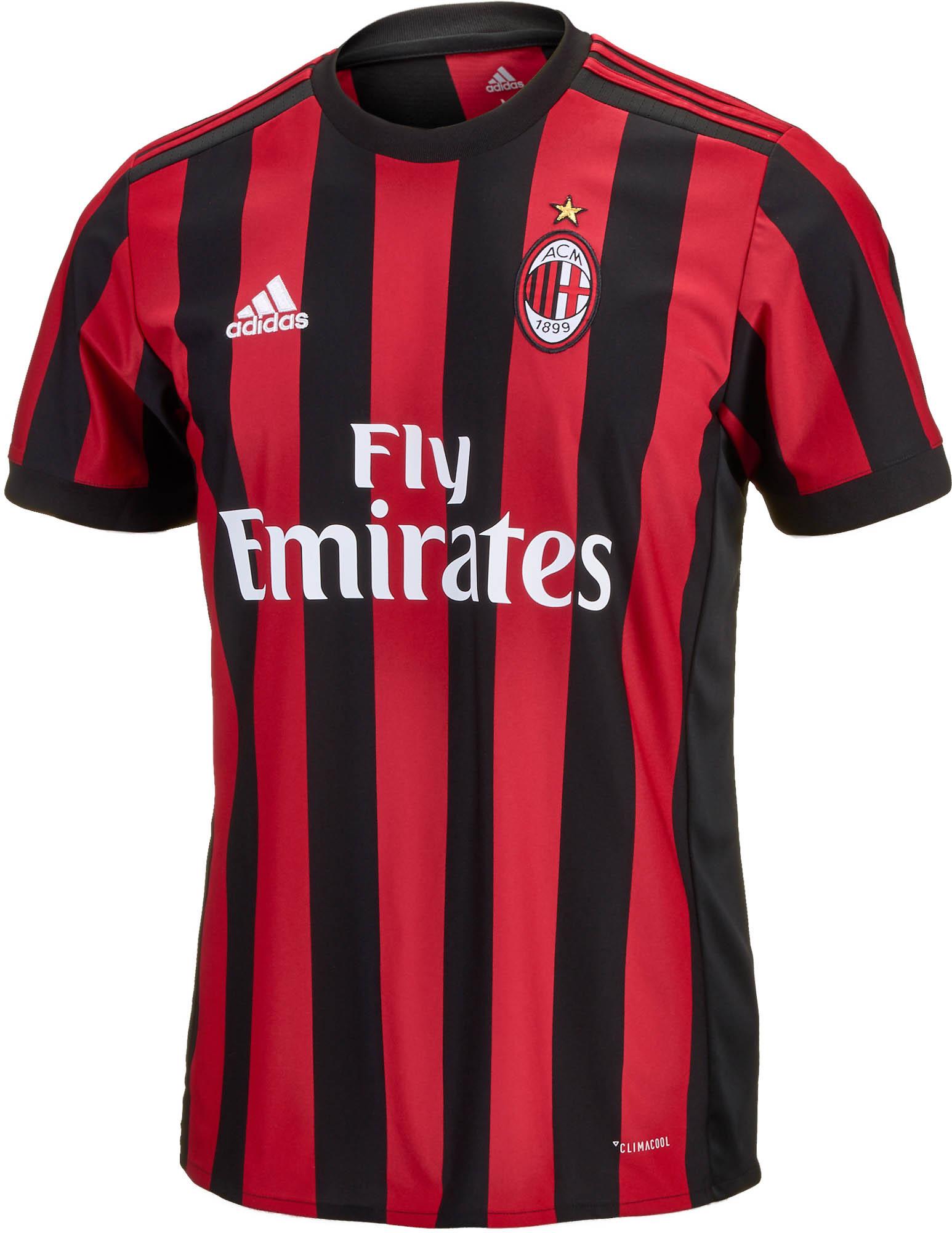 2017/18 AC Milan Home Jersey - AC Milan Soccer Jerseys