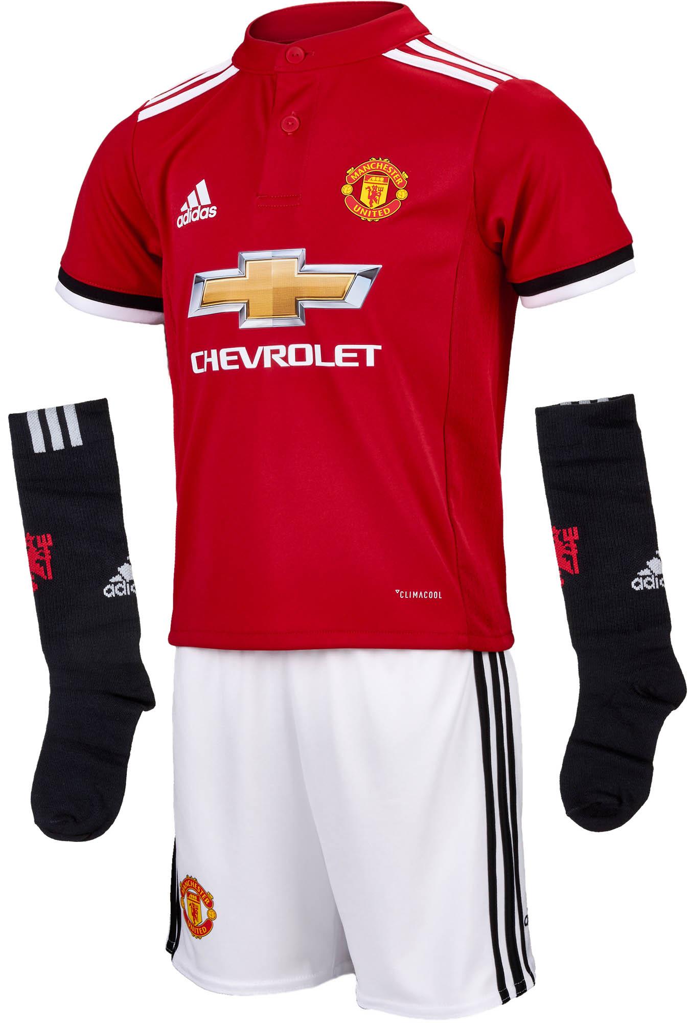 b6c4b55f3 adidas Kids Manchester United Home Mini Kit - 2017 18 Man United