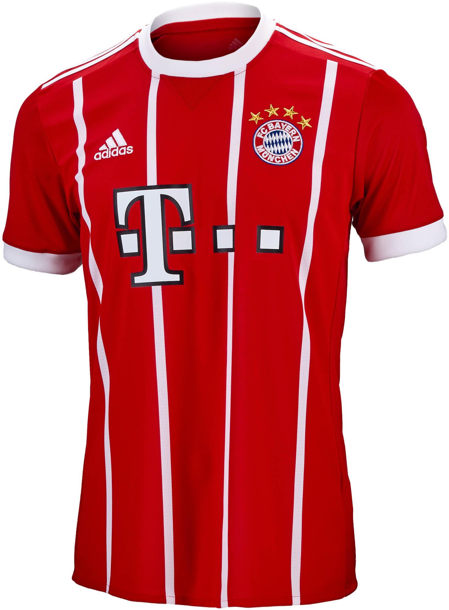 025b1940683 2017 18 adidas Bayern Munich Home Jersey - SoccerPro.com