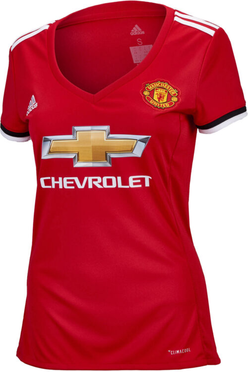 adidas Womens Manchester United Home Jersey 2017-18 NS