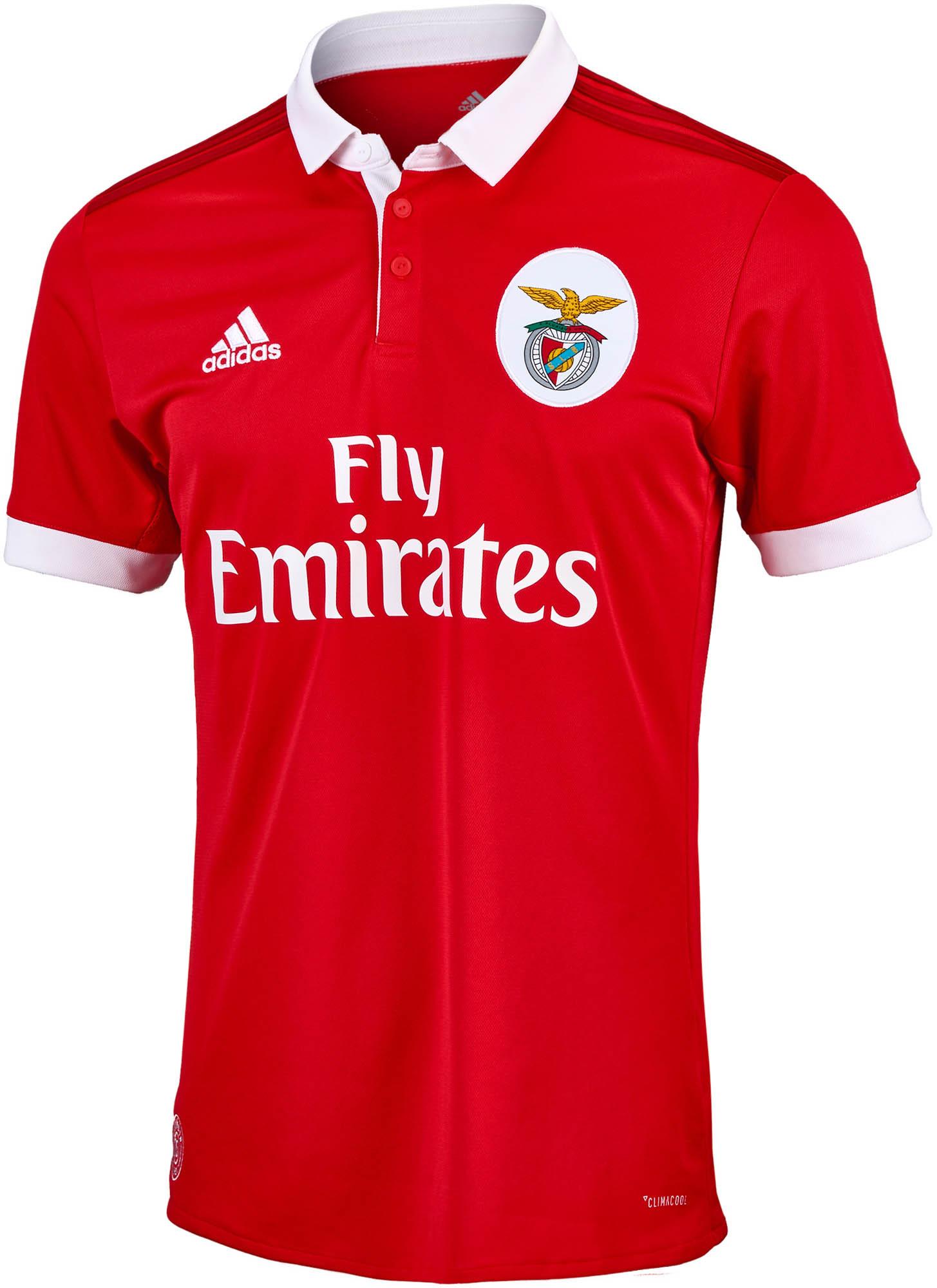 best website 3e419 3cf8a adidas Benfica Home Jersey 2017-18 - SoccerPro.com