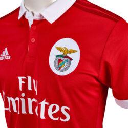best website 020df fb4d3 adidas Benfica Home Jersey 2017-18 - SoccerPro.com