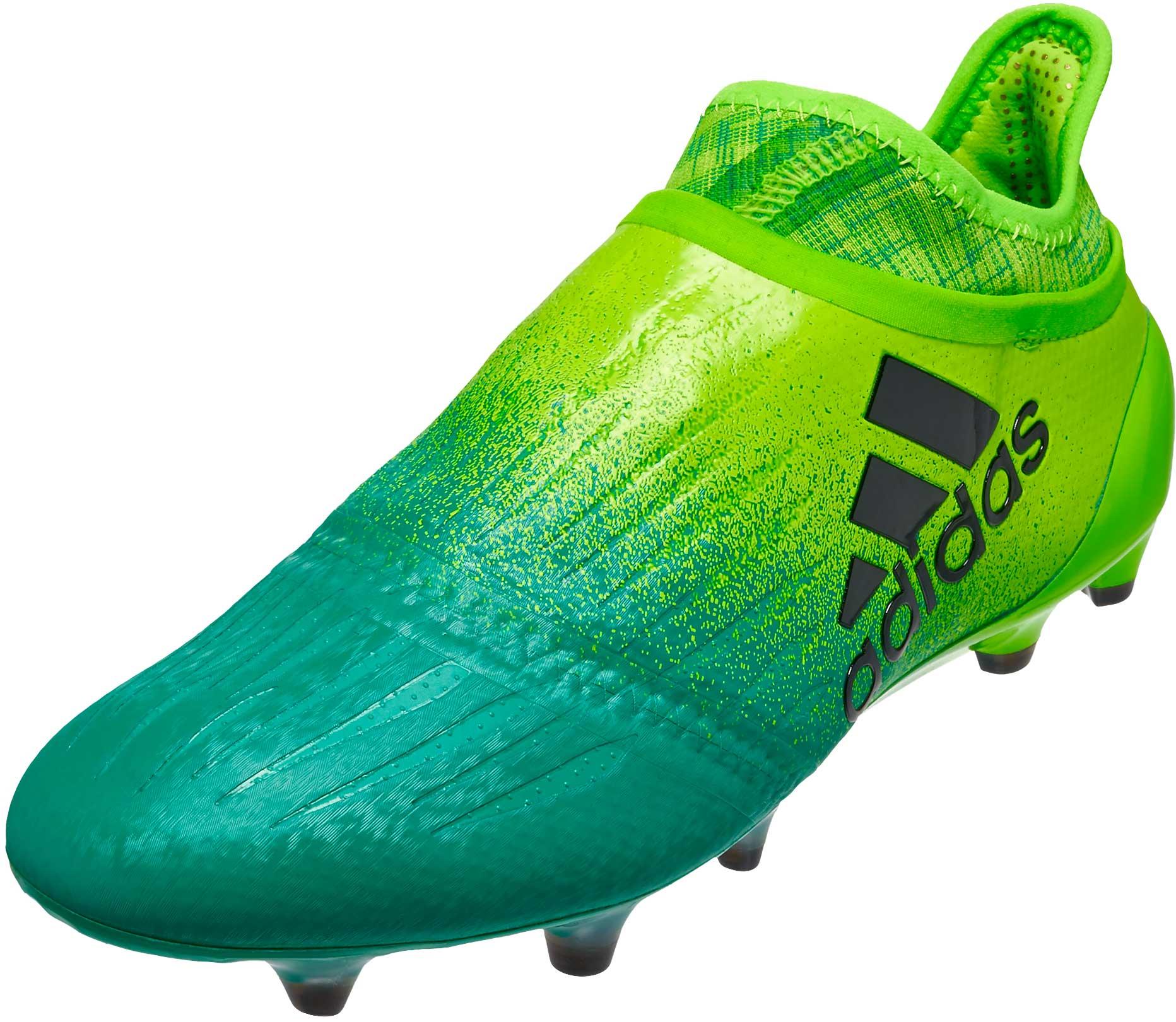 Condición previa nombre Guardería  adidas X 16 Purechaos FG - Green X 16 Soccer Cleats
