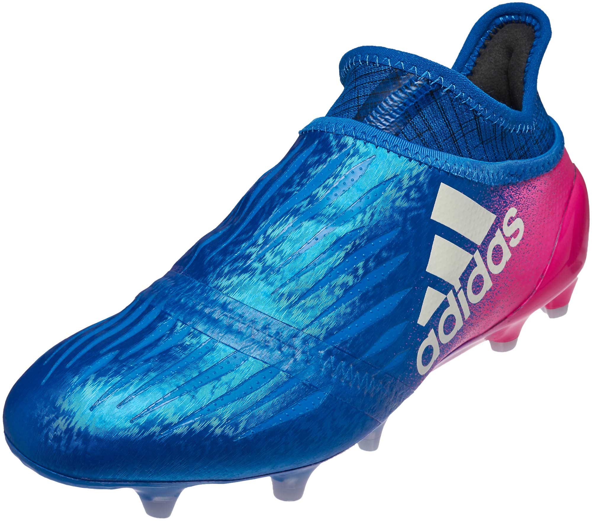 official photos 2132c 09e96 adidas Kids X 16 Purechaos FG – Blue/Shock Pink