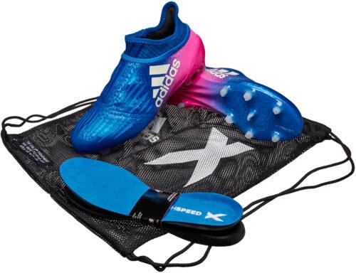 adidas Kids X 16  Purechaos FG – Blue/Shock Pink