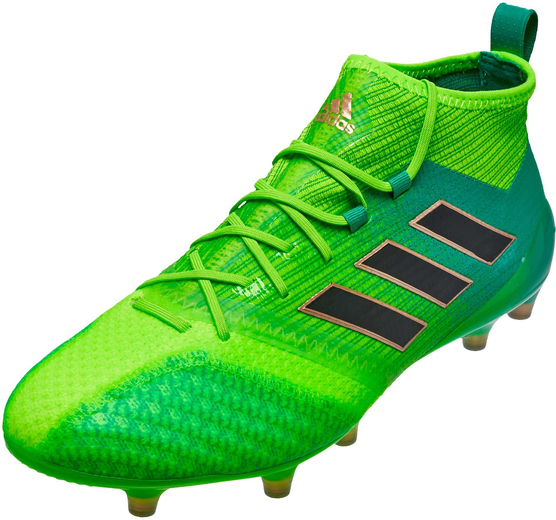 the latest ac3ca d80a5 adidas ACE 17.1 Primeknit FG – Solar Green/Black