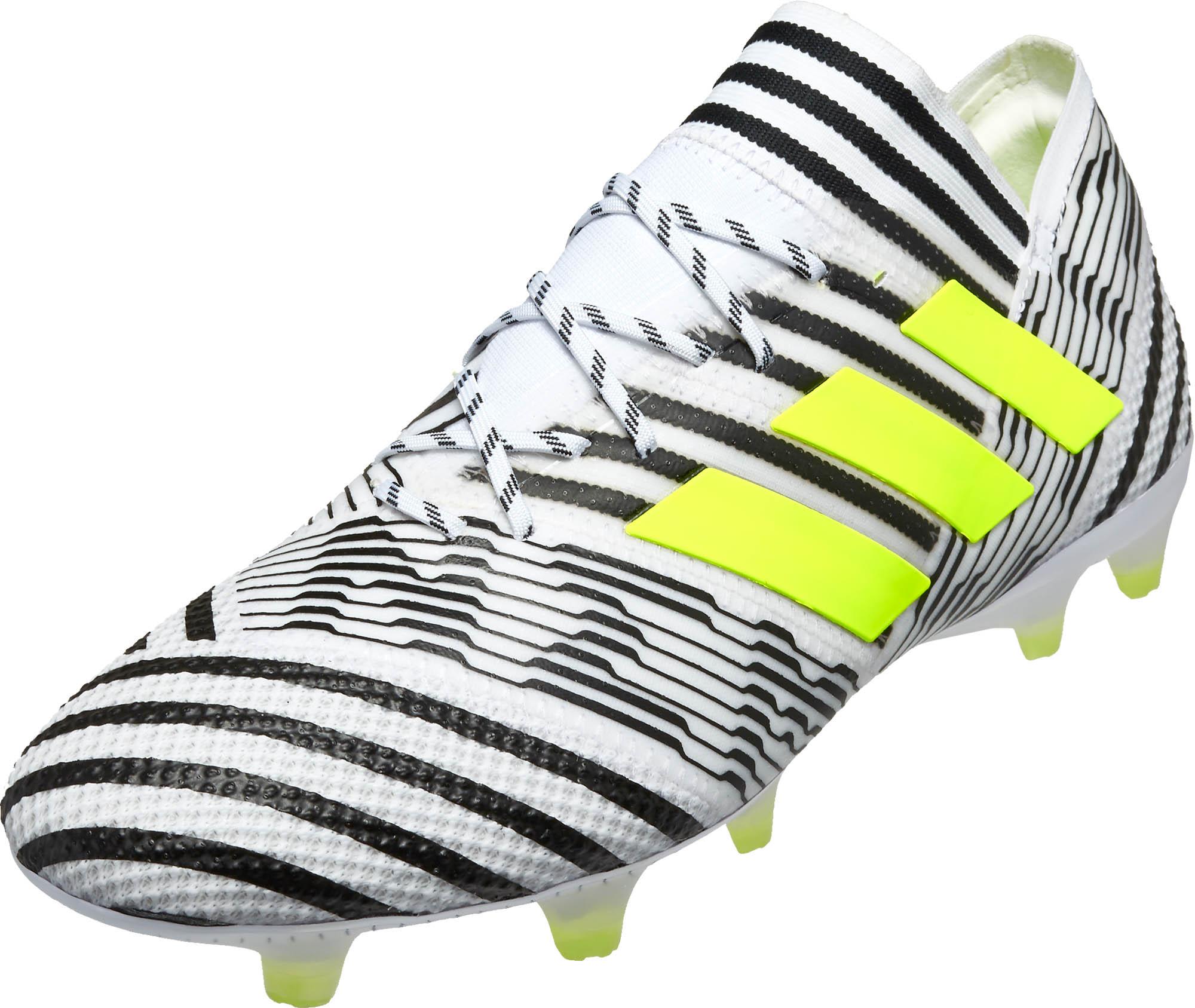 fe88f877e05f adidas Nemeziz 17.1 FG - White adidas Soccer Cleats