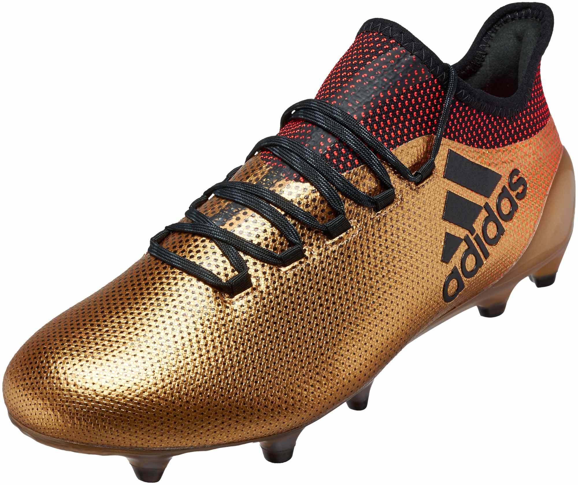 adidas X 17.1 FG - Tactile Gold Metallic Soccer Cleats c42c0af1ee2