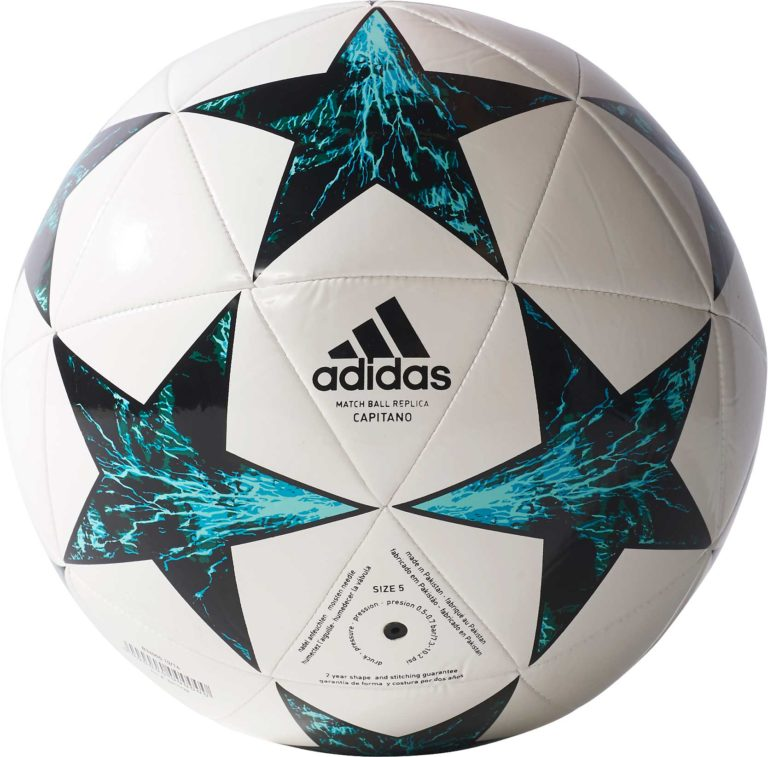 adidas Finale 17 Capitano Soccer Ball – White/Black