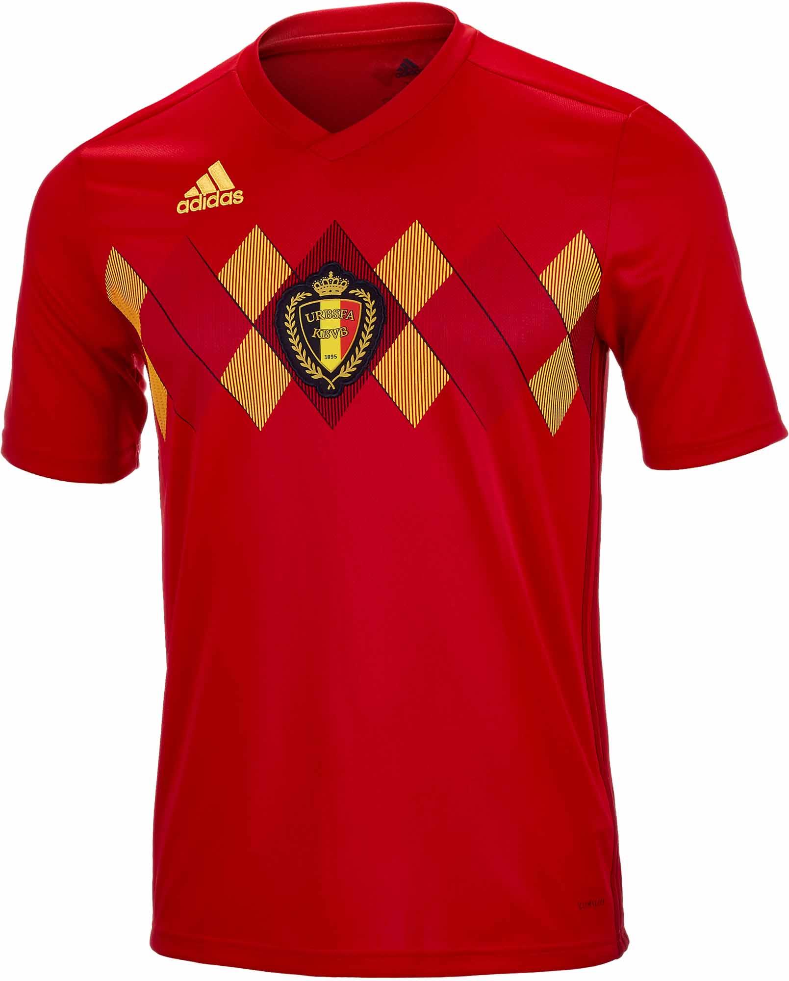 adidas Kids Belgium Home Jersey 2018-19 - SoccerPro 23d82a8f6