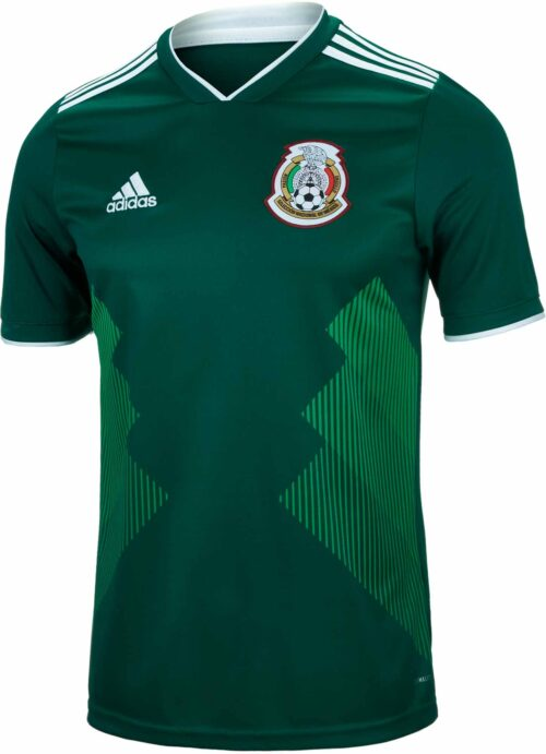 adidas Kids Mexico Home Jersey 2018-19 NS