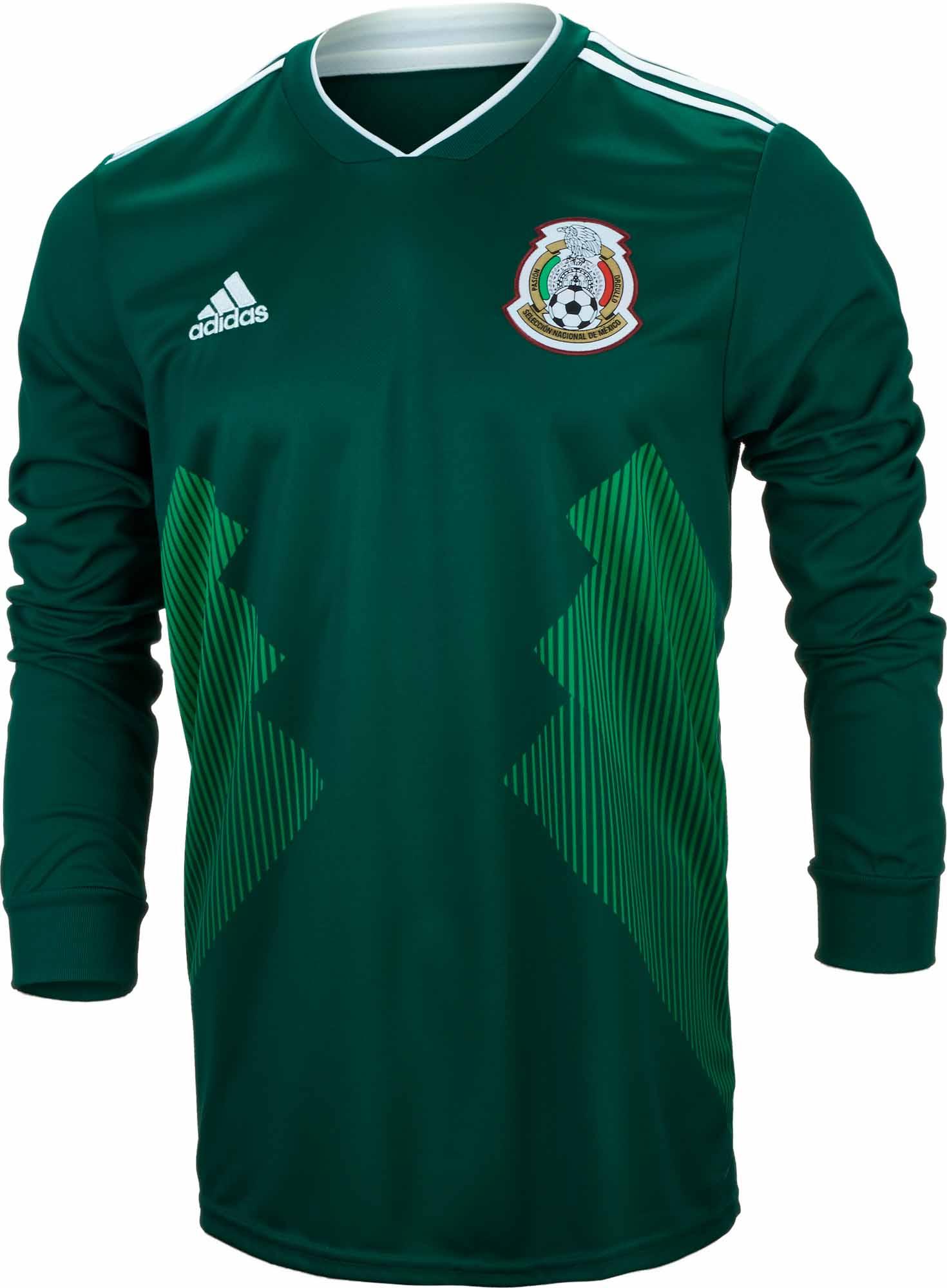 86688d4cd adidas Mexico L S Home Jersey 2018-19 - SoccerPro.com