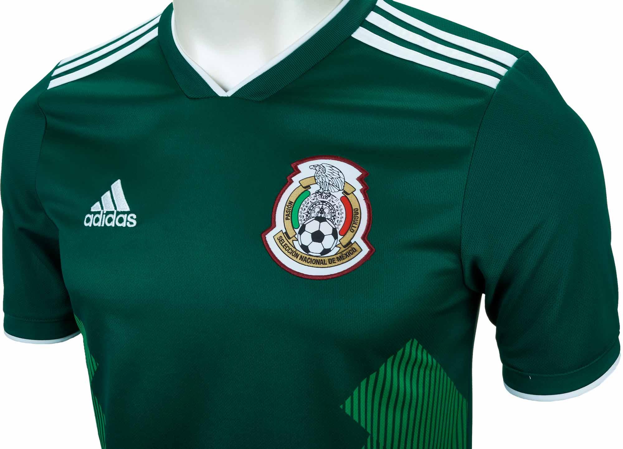 adidas Mexico Home Jersey 2018-19 - SoccerPro.com cc588fa1e