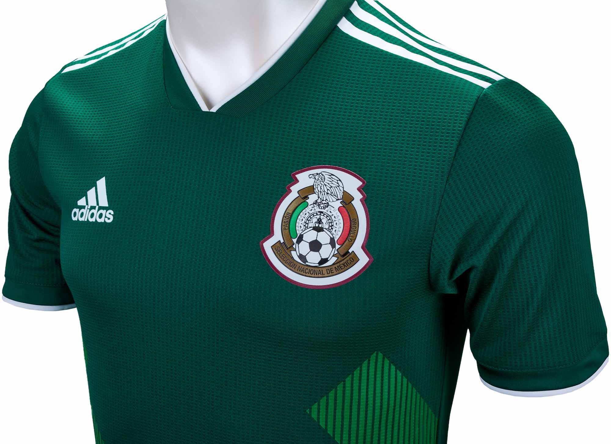 Activo estoy feliz cumpleaños  adidas Mexico Authentic Home Jersey 2018-19