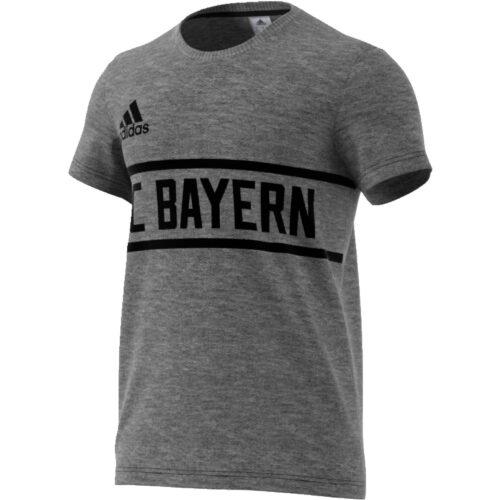 adidas Bayern Munich SGR Tee – Dark Grey Heather/Black