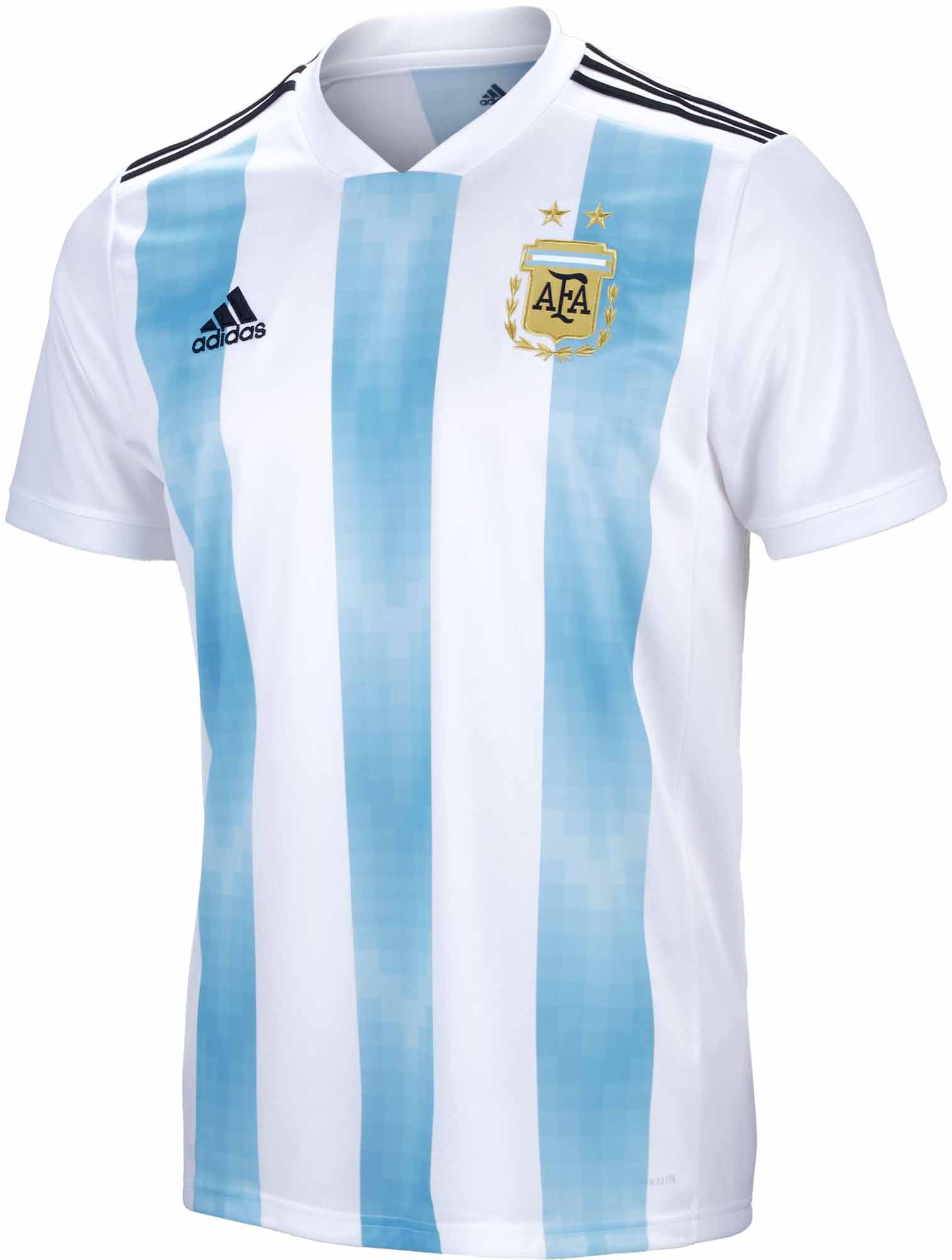 adidas Argentina Home Jersey 2018-19 - SoccerPro.com