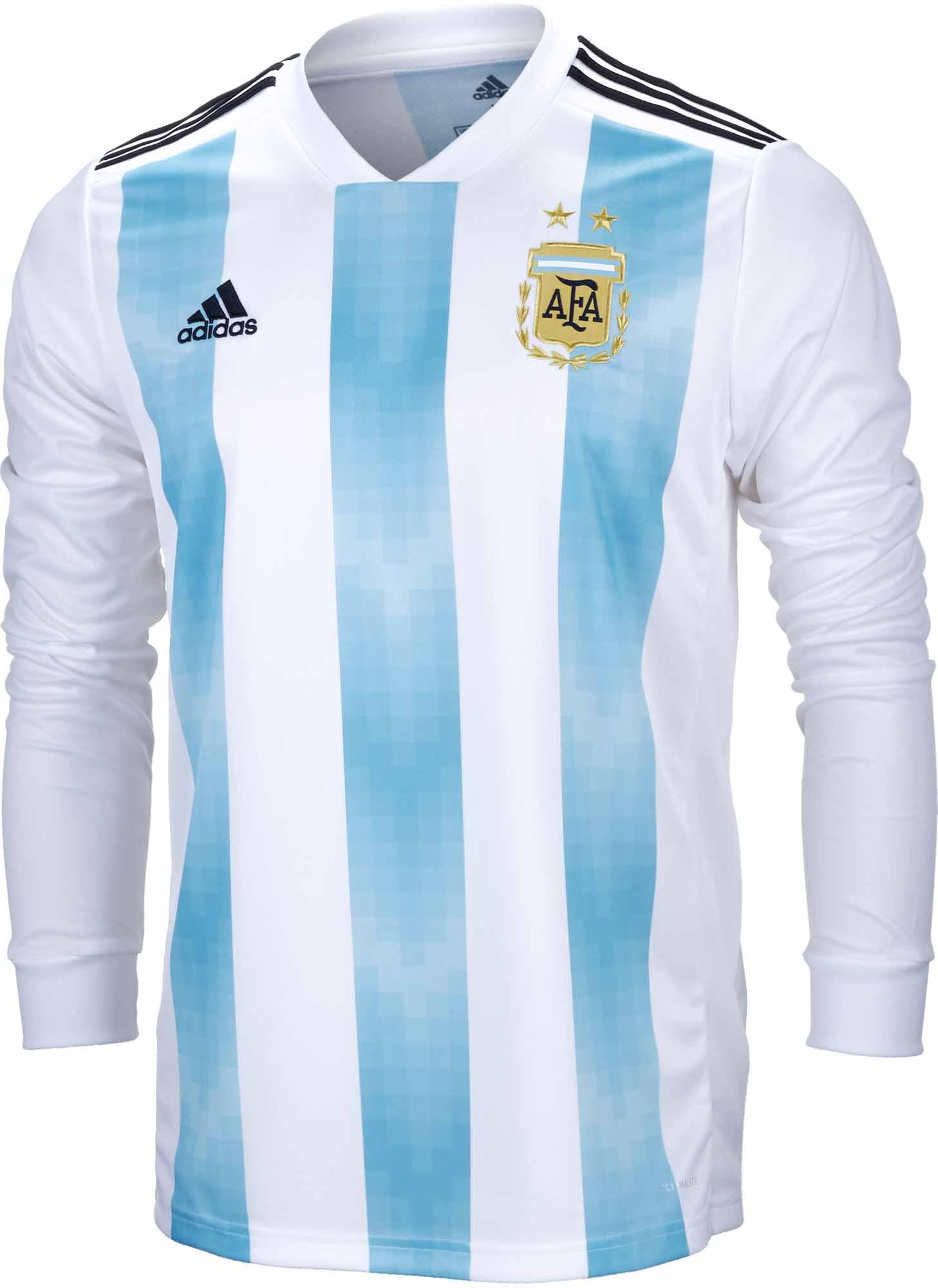 4a38b51a3 adidas Argentina L S Home Jersey 2018-19- SoccerPro.com