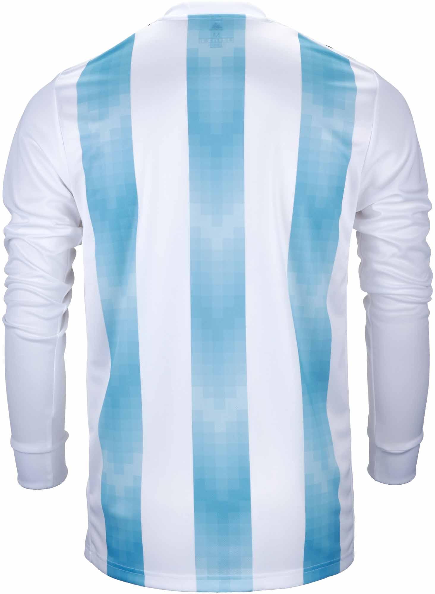 b21fd0fae79 adidas Argentina L S Home Jersey 2018-19- SoccerPro.com