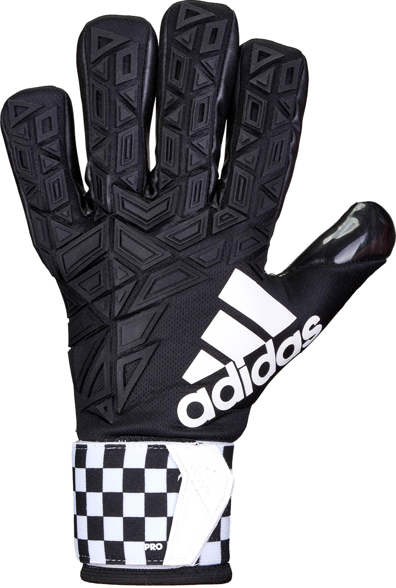 White Black adidas ACE Trans Pro Goalie Gloves