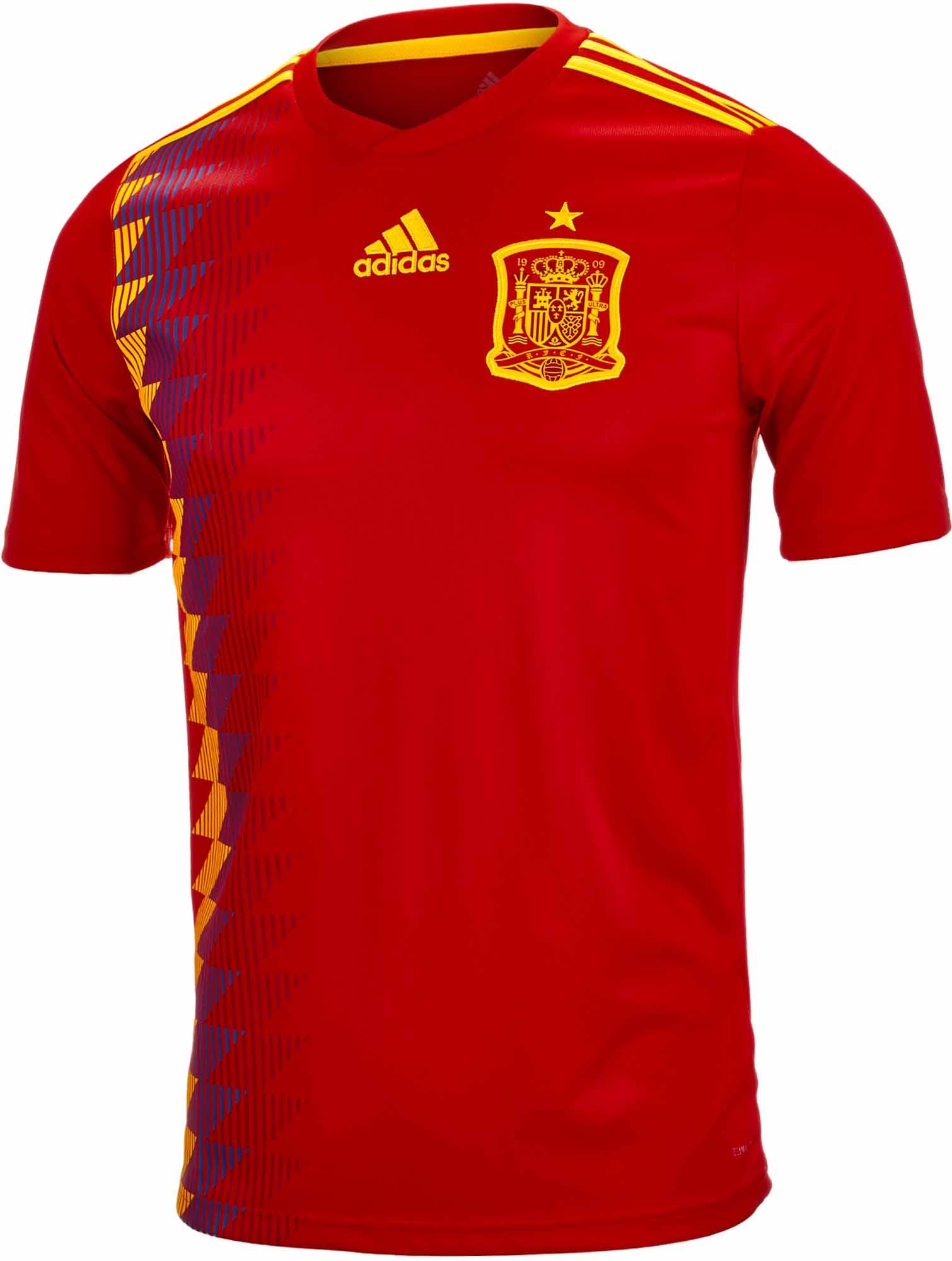 adidas Kids Spain Home Jersey 2018-19 - SoccerPro.com 6f2f0dfdd