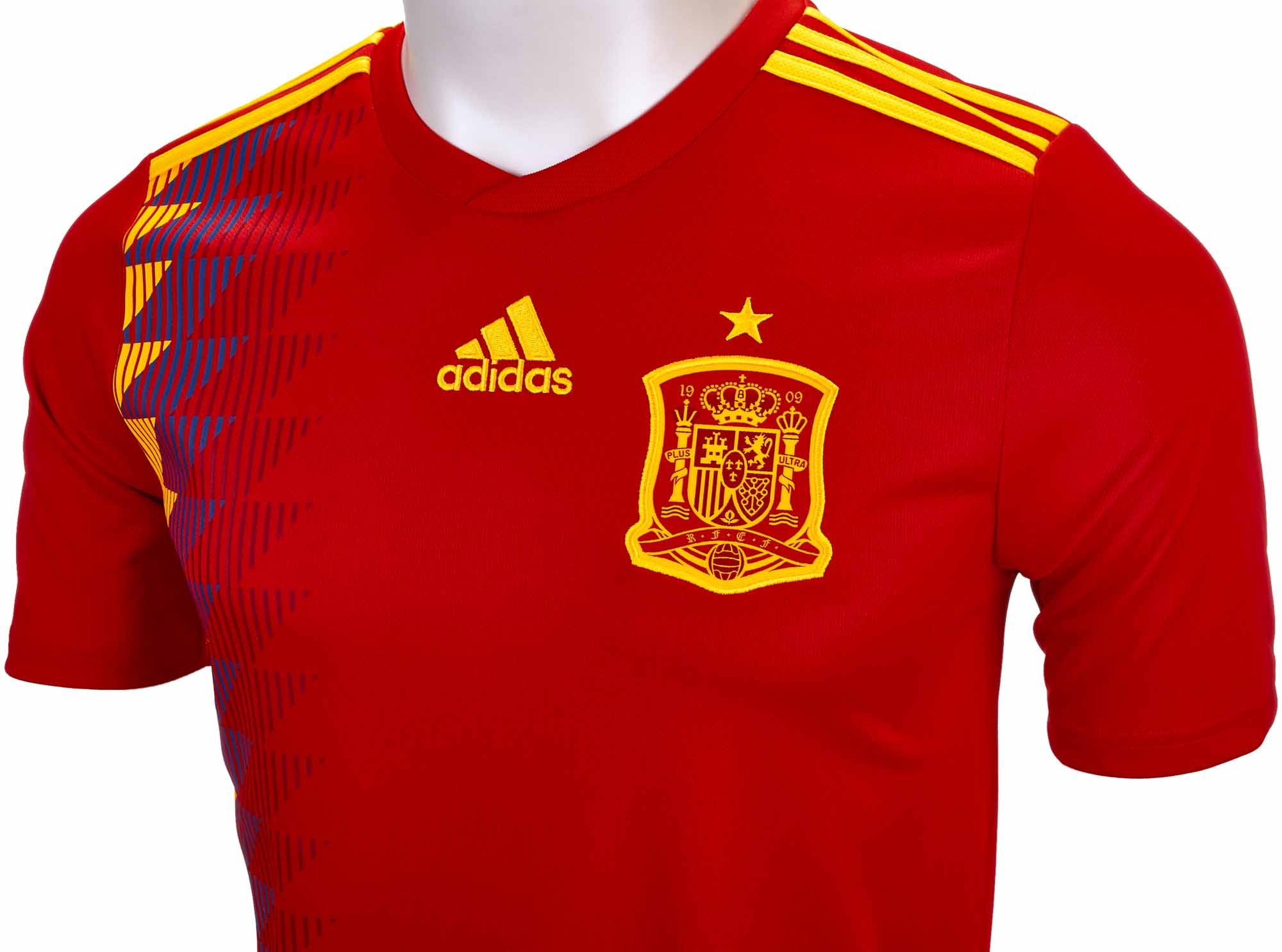 new style e9c0a ac477 adidas Kids Spain Home Jersey 2018-19 NS