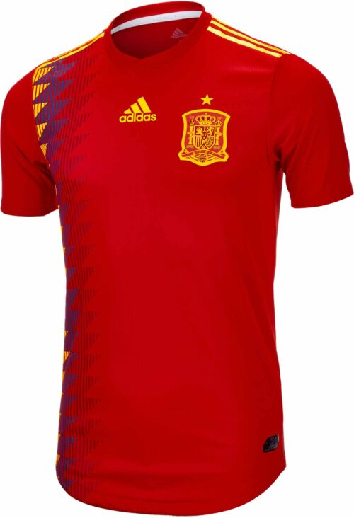 adidas Spain Authentic Home Jersey 2018-19 NS