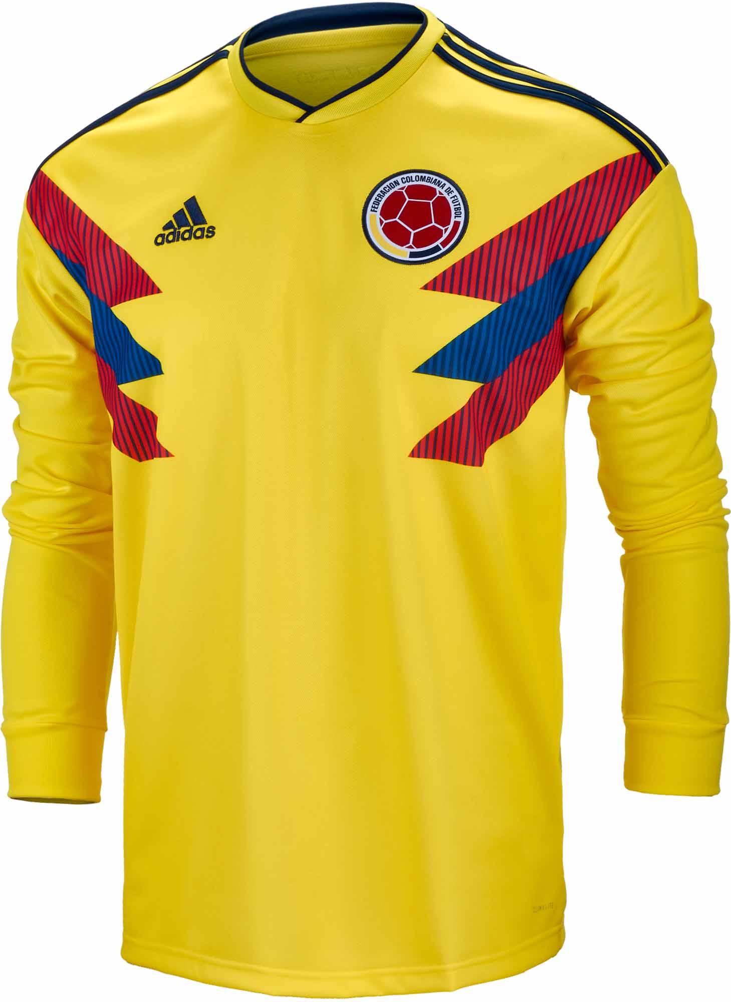 f6549fc7137b adidas Colombia L S Home Jersey 2018-19 - SoccerPro.com