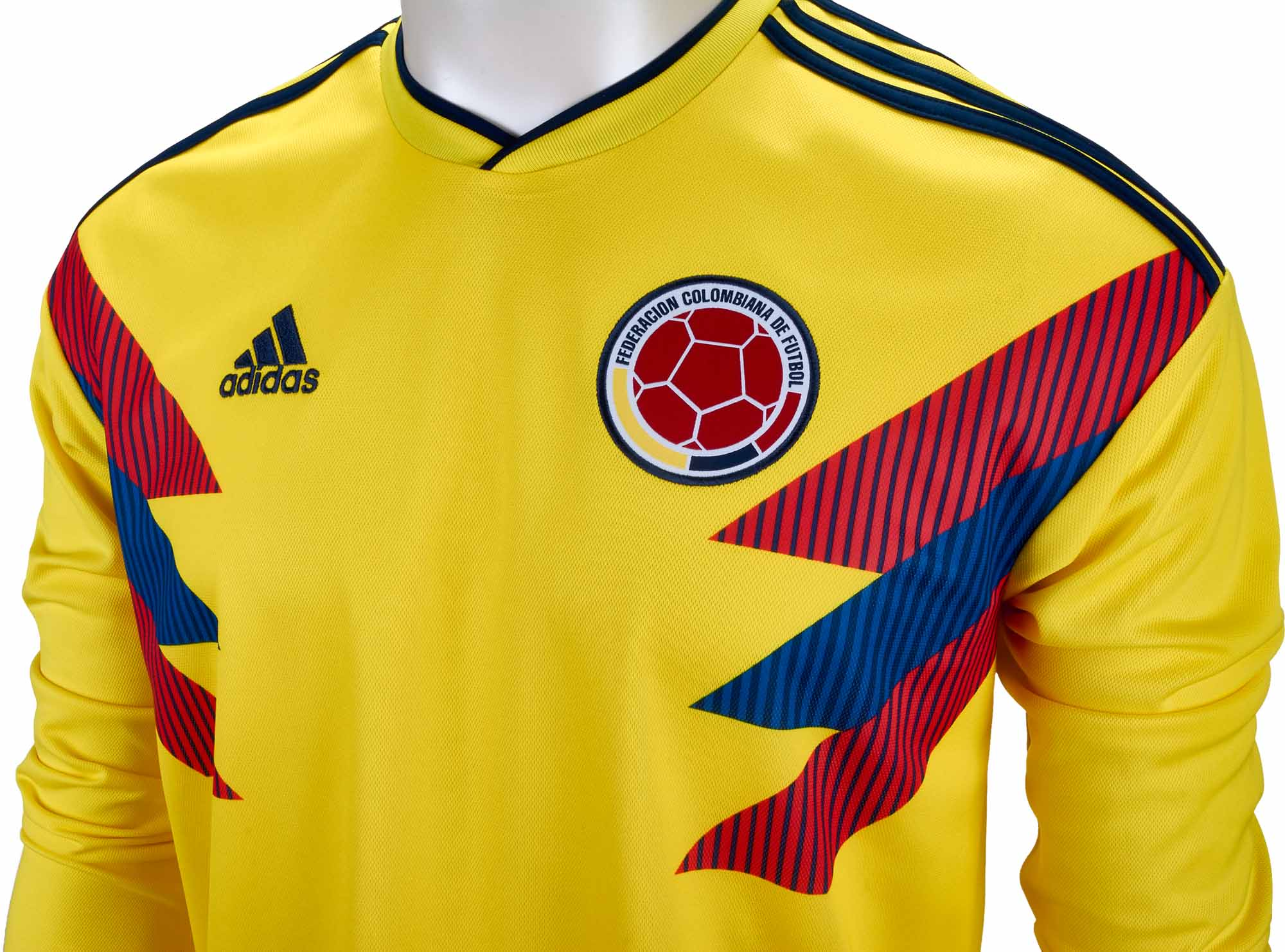 adidas Colombia L/S Home Jersey 2018-19 - SoccerPro.com