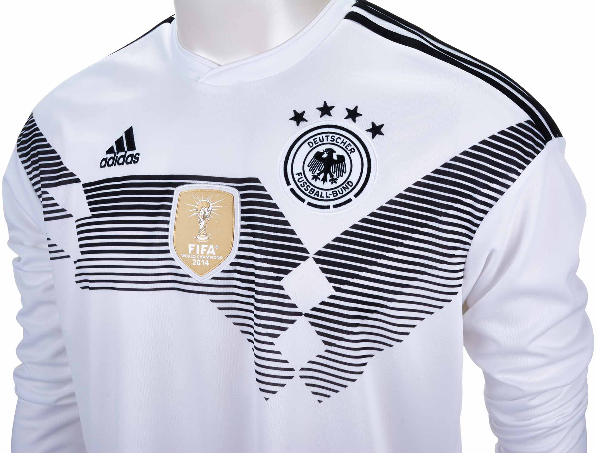 Adidas germany l s home jersey 2018 19 for Germany mercedes benz soccer jersey
