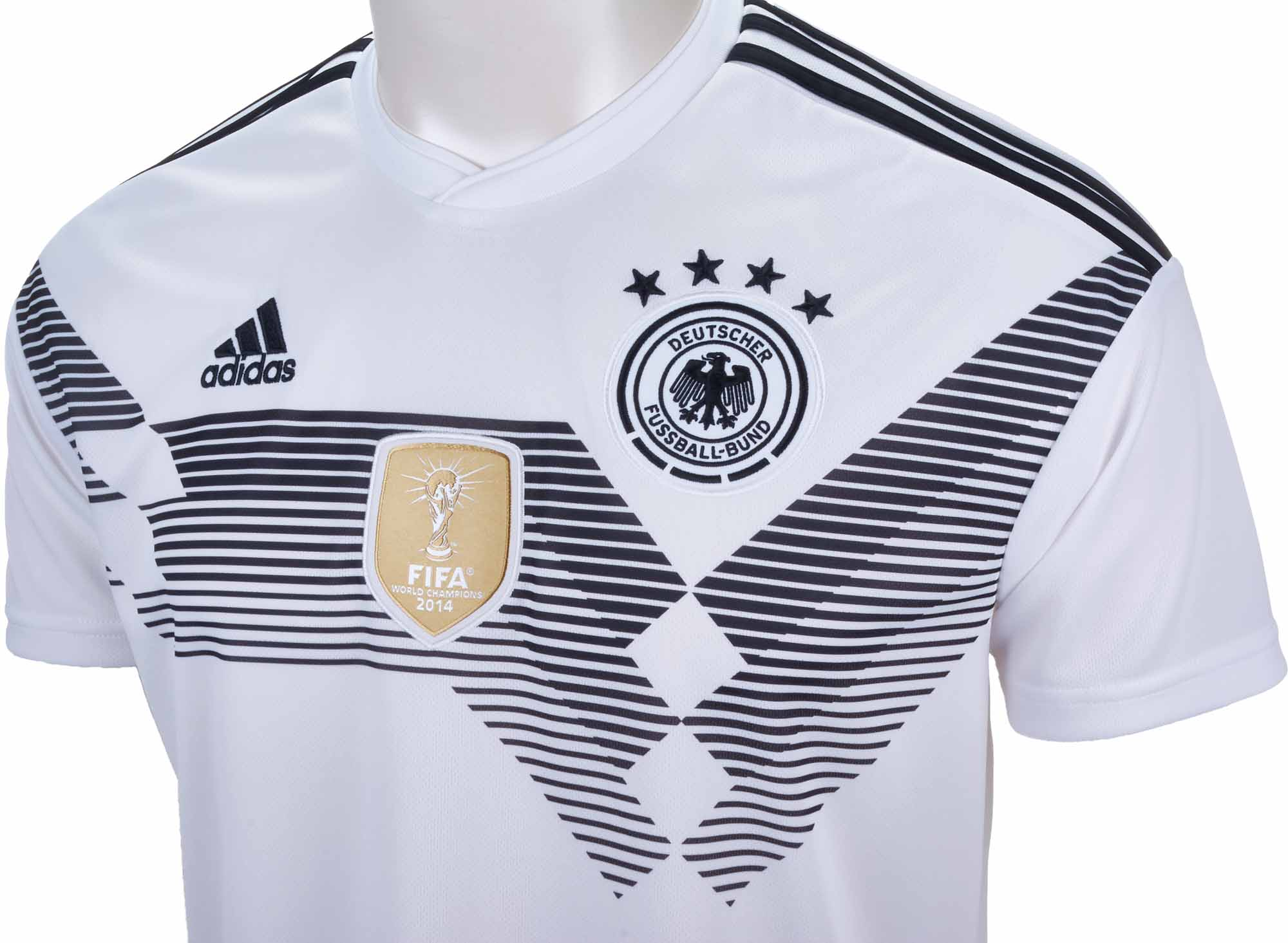 Adidas germany home jersey 2018 19 for Germany mercedes benz soccer jersey