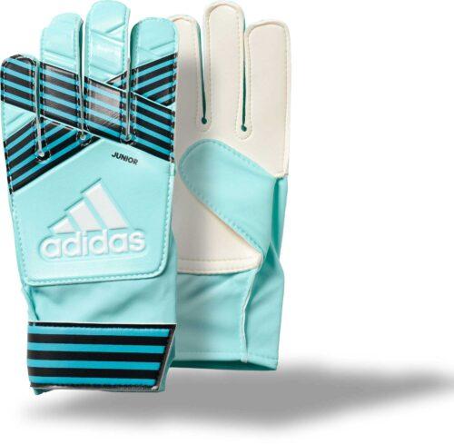 adidas Kids ACE Goalkeeper Gloves – Energy Aqua/Energy Blue
