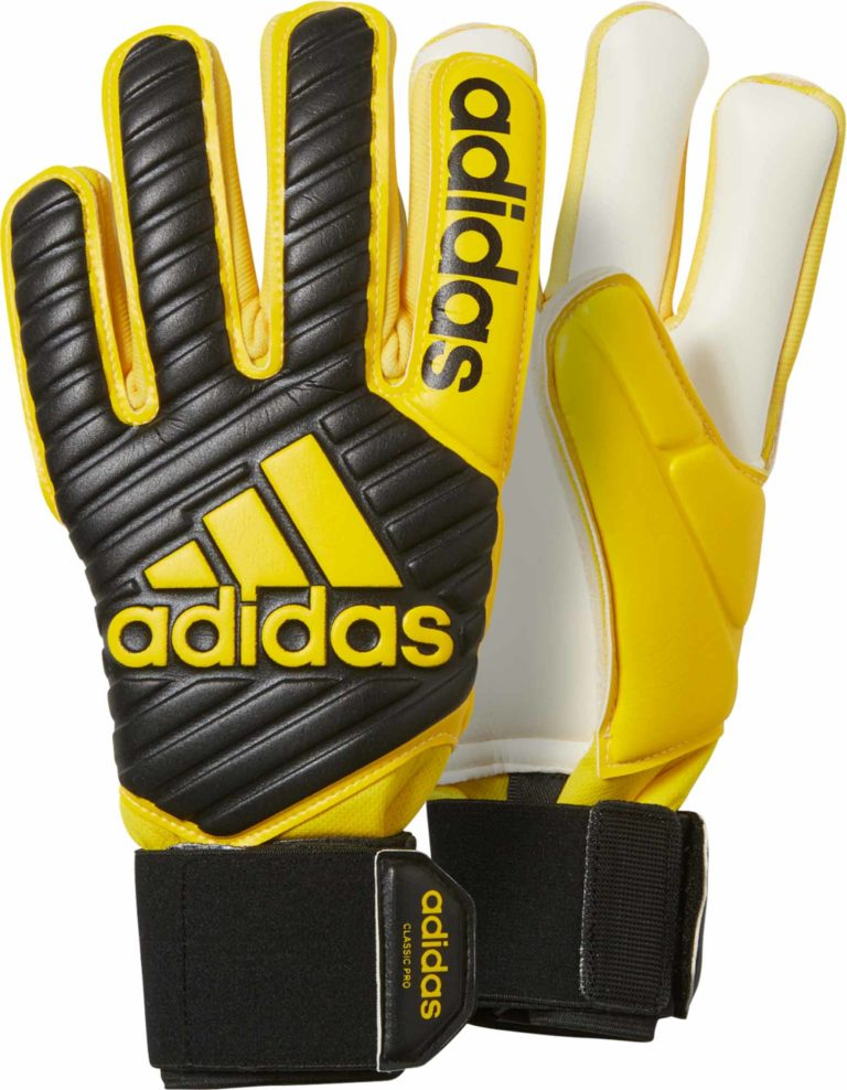 adidas Classic Pro Goalkeeper Gloves – Black/Yellow