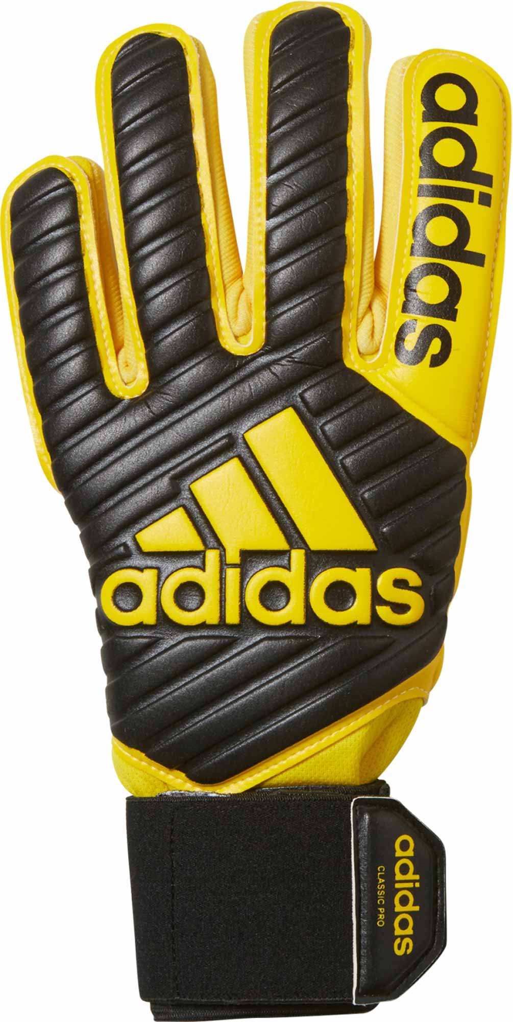 3266f02ae Black and Yellow adidas Classic Pro Gloves - Goalkeeper Gloves