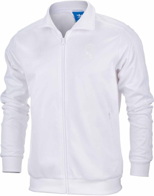 adidas Orginals Real Madrid Track Top – White