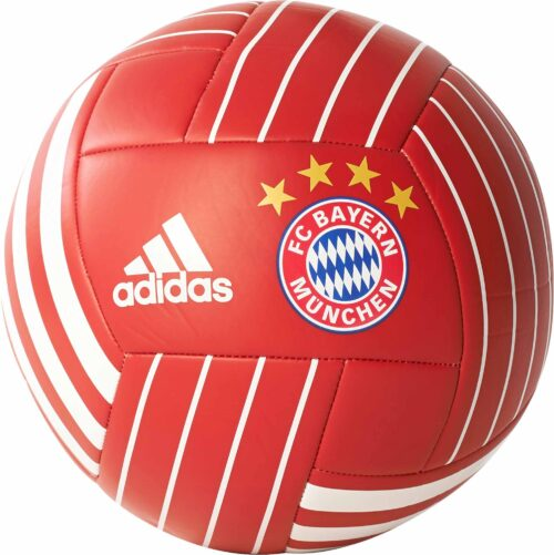 adidas Bayern Munich Soccer Ball – FCB True Red/White