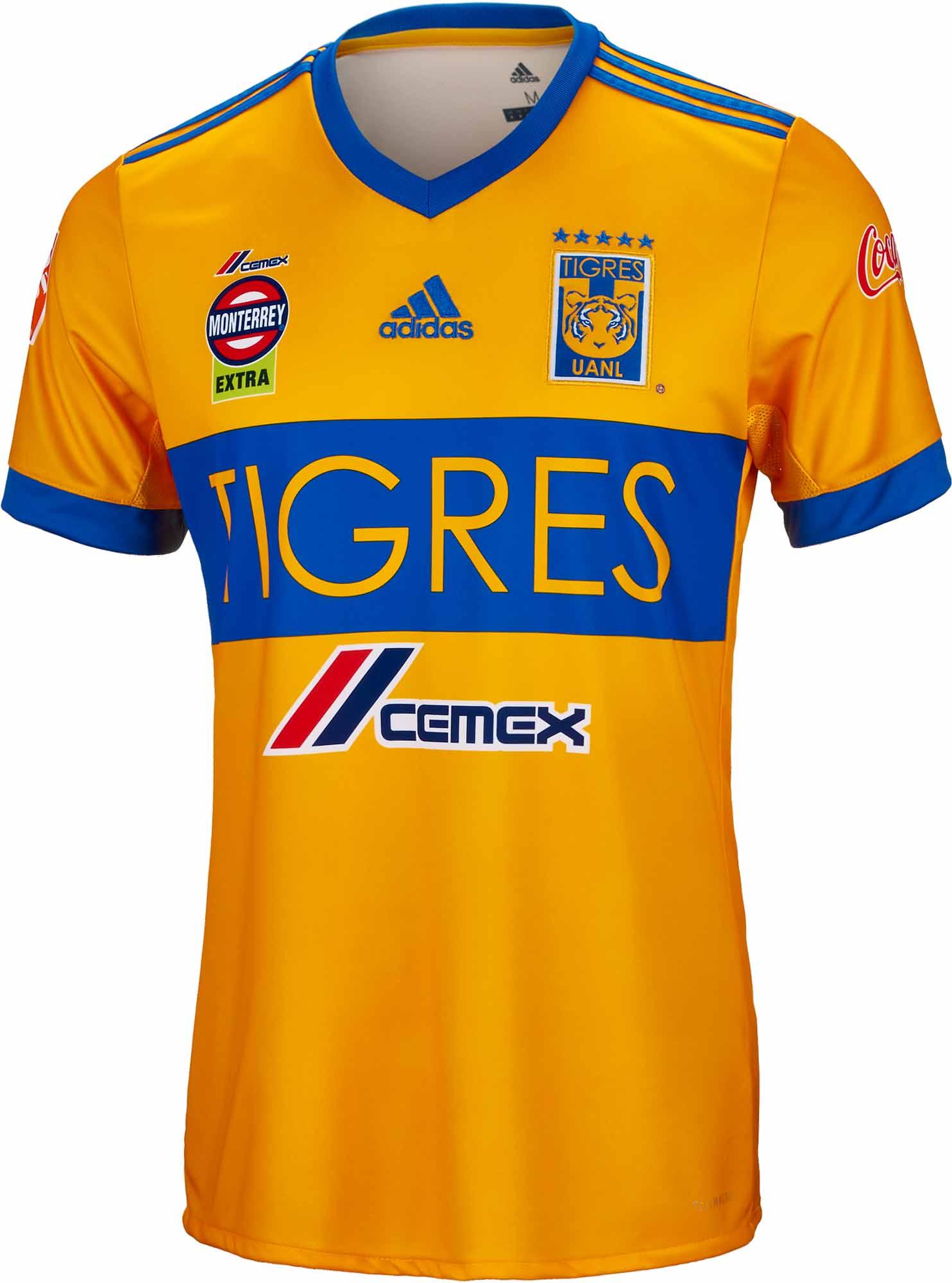 2017/18 adidas Tigres Home Jersey- Tigres Soccer Jersey