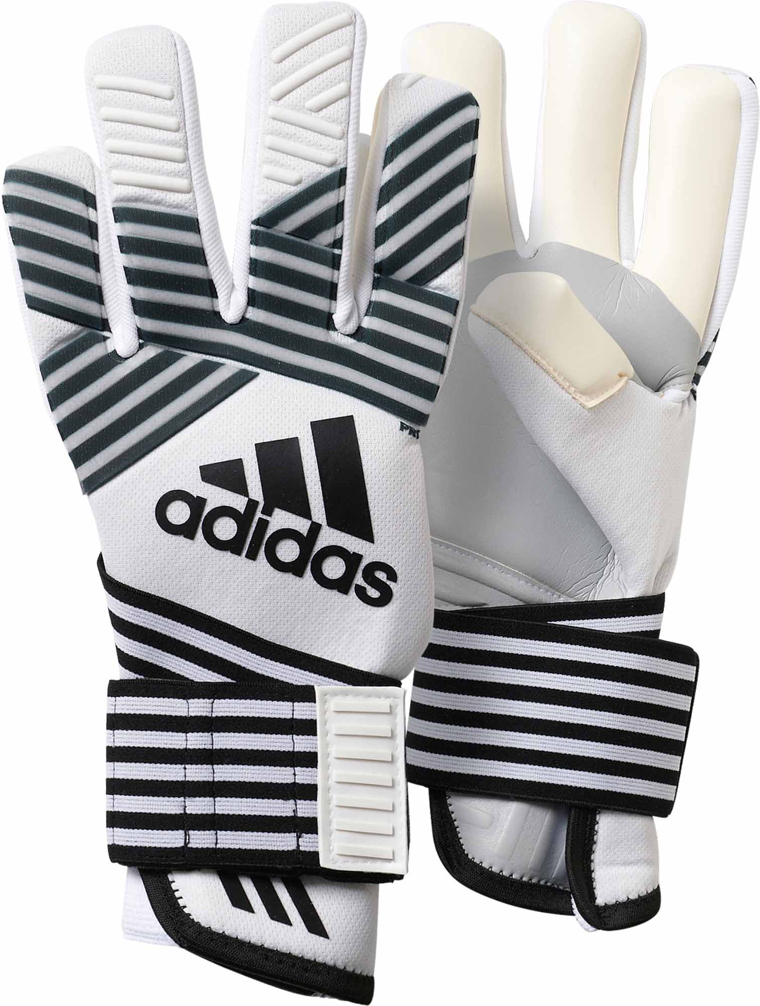 online store a7ac3 64788 adidas ACE Trans Pro Goalkeeper Gloves – Clear Onix/Black