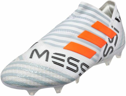 adidas Nemeziz Messi 17  360Agility FG – White/Solar Orange/Clear Grey
