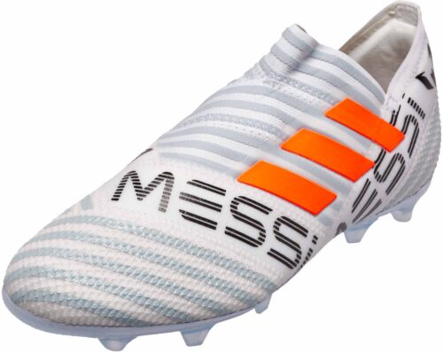 adidas Kids Nemeziz Messi 17  360Agility FG – White/Solar Orange