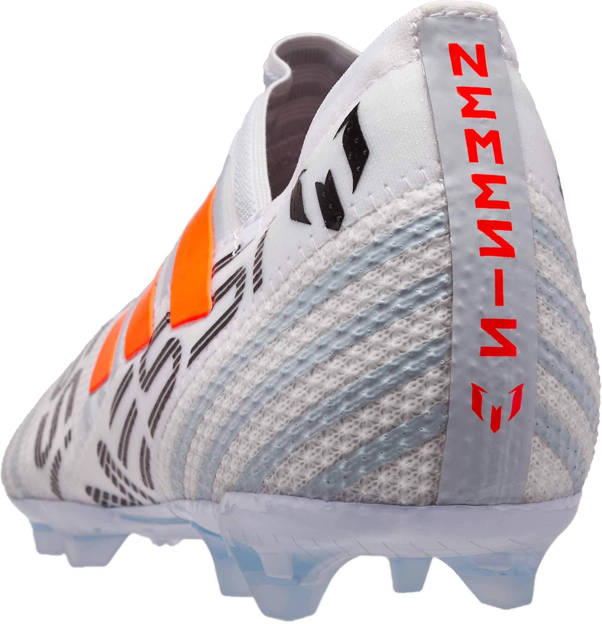 4b9fc526657d adidas Kids Nemeziz Messi 17 360Agility FG – White Solar Orange