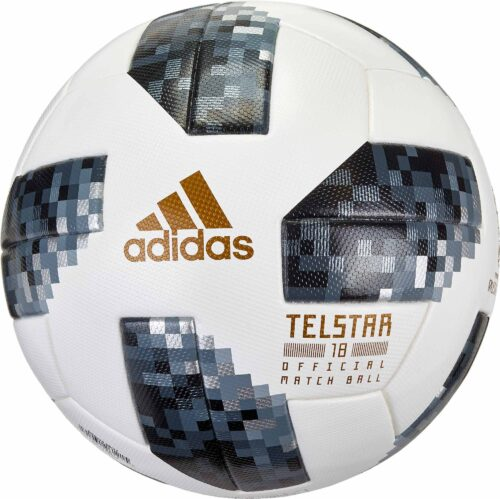 adidas Telstar 18 World Cup Match Ball – White with Metallic Silver