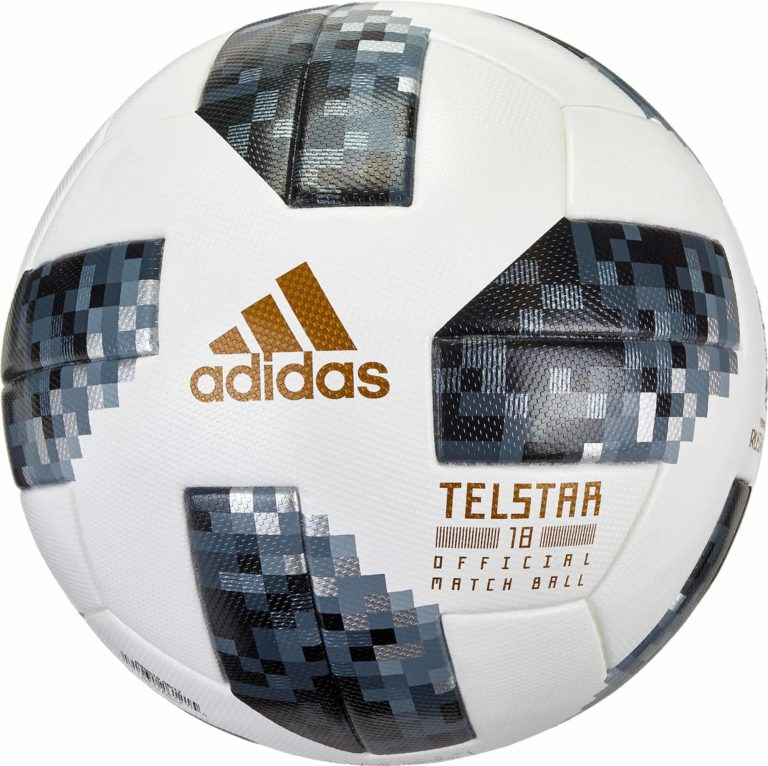 adidas Telstar 18 World Cup Match Ball – White with Metallic Silver