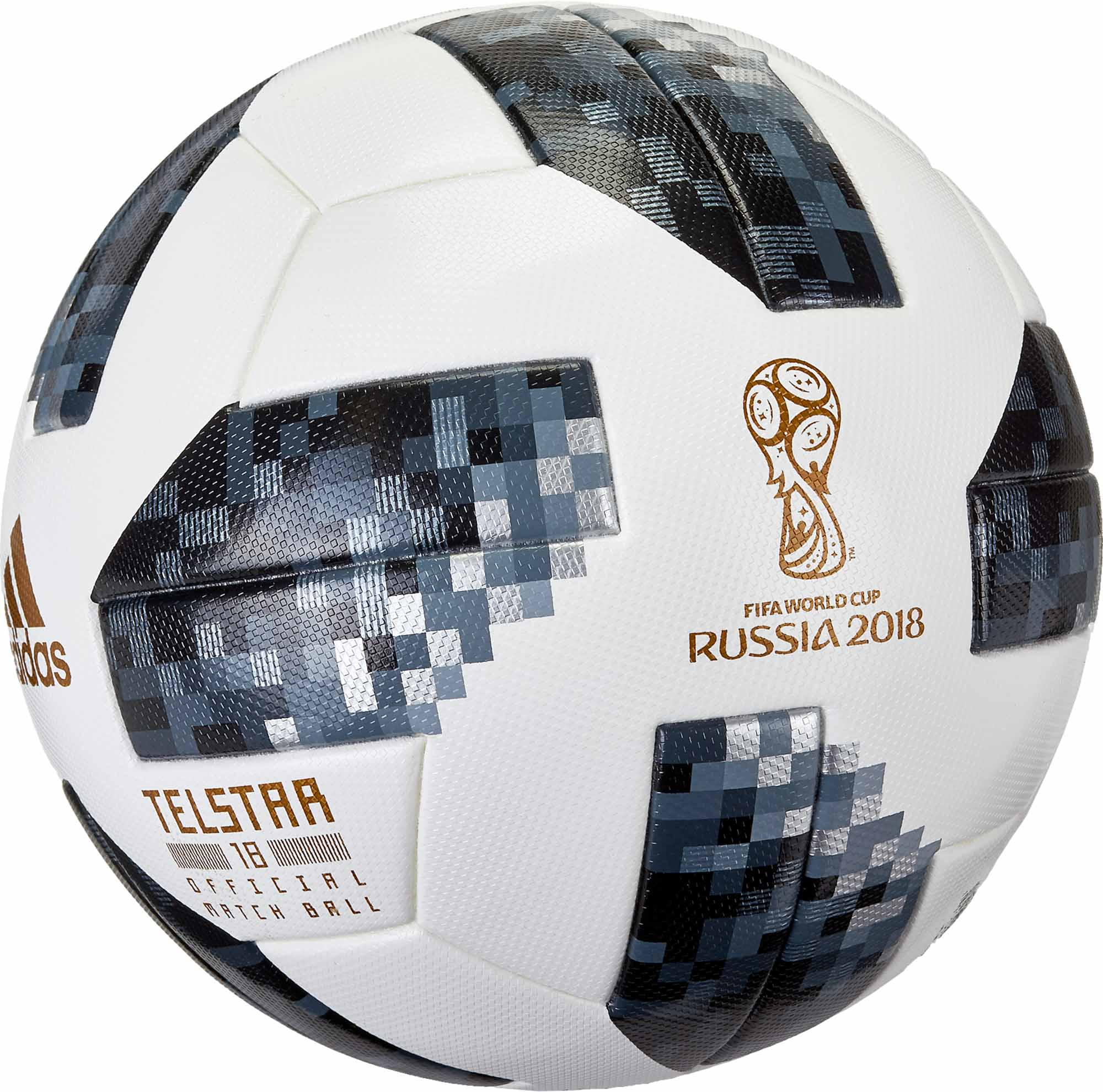 adidas Telstar 18 World Cup Match Ball – White with Metallic Silver 203ddfd8b60a7