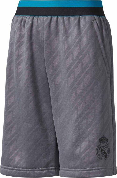 adidas Kids Real Madrid Knit Short – Grey Five/Black