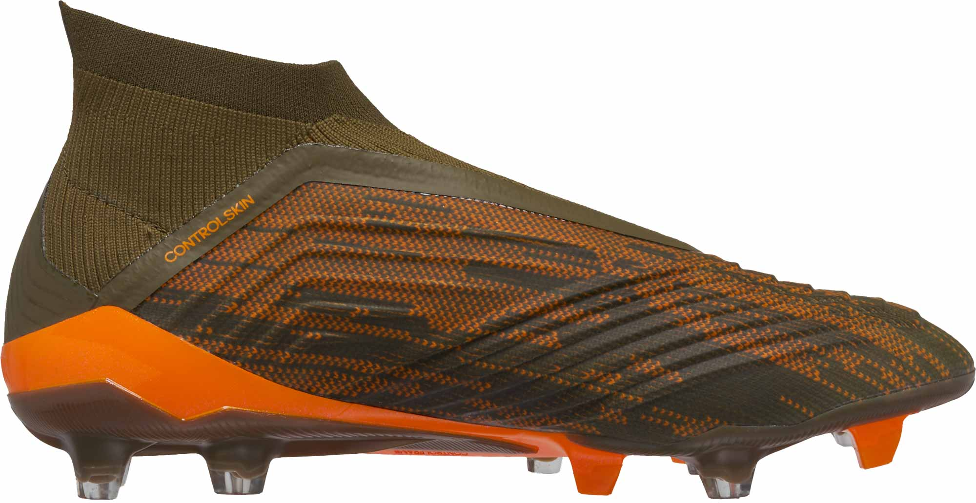 adidas Predator 18+ FG – Trace Olive/Burnt Orange