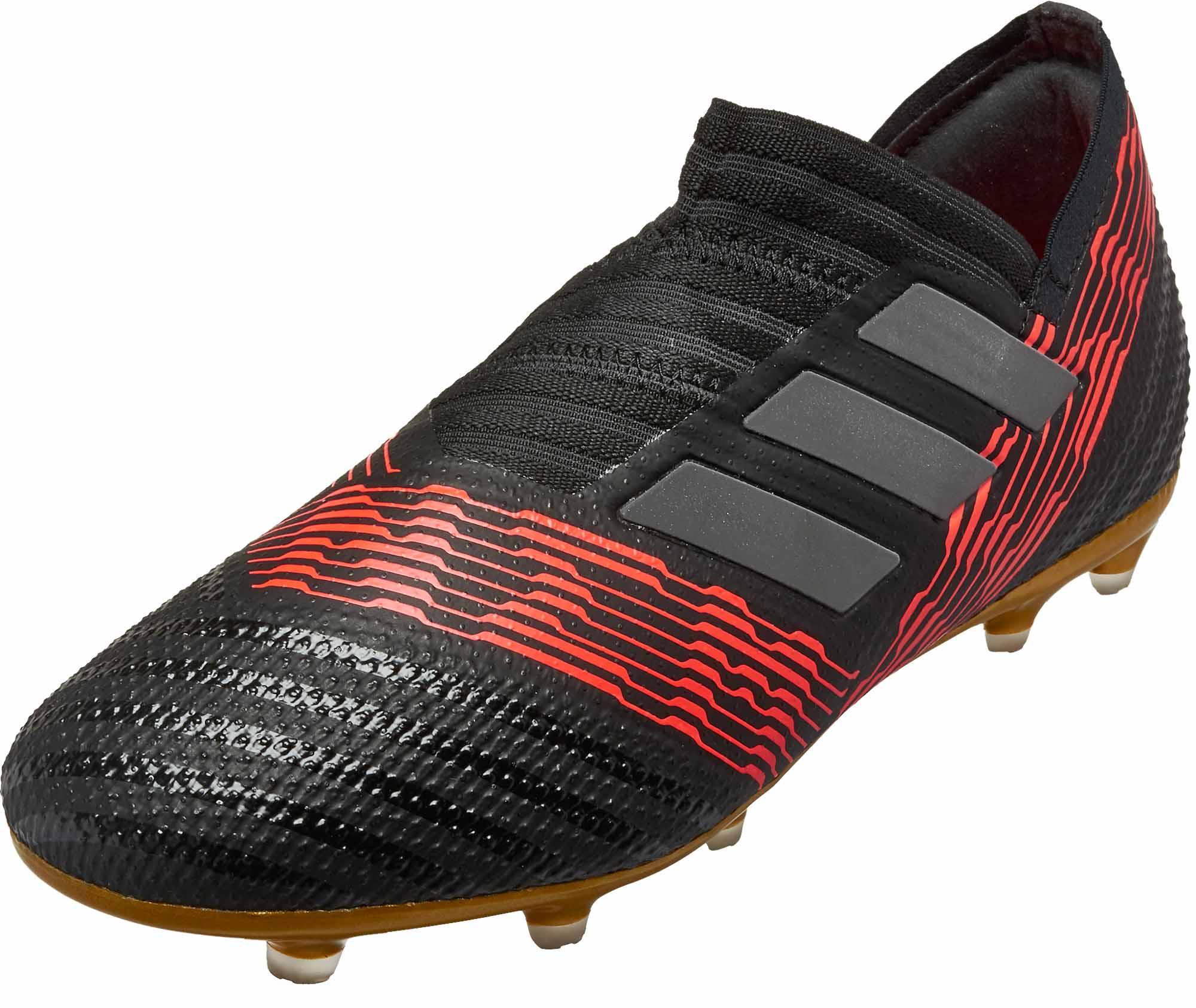 hot sale online 168b4 11f07 adidas Kids Nemeziz 17 FG – BlackSolar Red