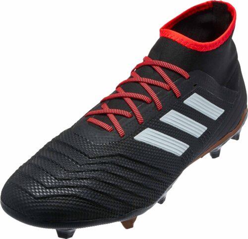 adidas Predator 18.2 FG – Black/Solar Red