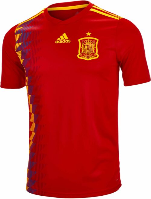 adidas Spain Home Jersey 2018-19 NS